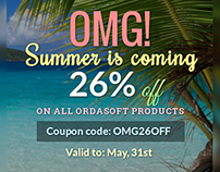 26% off on all OrdaSoft products