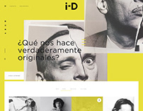 i-D Magazine web design
