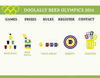 Doolally Beer Olympics 2016 Website and Branding