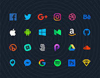 70 Flat Social Icons for Sketch (Free Download)