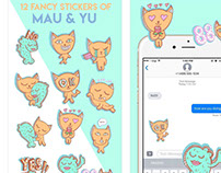 Stickers for IOS - Mau and Yu
