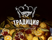 Логотип и носители для ресторана «Традиция»