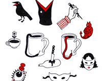 sticker/ pin/ tattoo designs