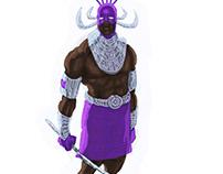African superhero concept art