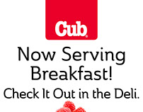 Now Serving Breakfast Sign
