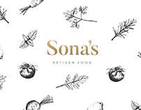 Sona's Artisan Food - Branding