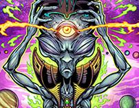 Psychedelic Space Alien