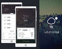 User Interface for Weatherforecast mobile application