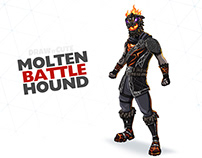 How to draw Molten Battle Hound | Fortnite Season 8 tut
