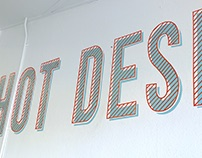 Hand Lettered Mural at The Enterprise Hub CU