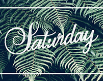 Saturday | Hand Lettering