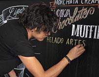 Rotulación y chalk lettering para Café Liparis