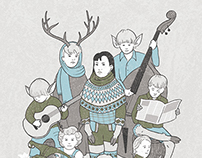Nive and the Deer Children (Band Tour Poster)