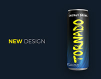 Tornado Energy Drink Can Design