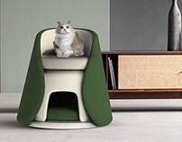 Mochi_A chair with a cat