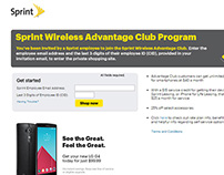 Sprint Advantage Club Site and Loyalty Program