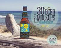 30 Beer Mockups in Formentera