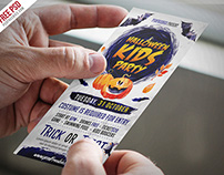 Free Halloween Kids Party Invitation Card PSD