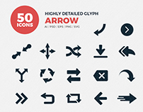 JI-Glyph Arrows Icons Set