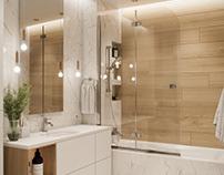 Interior 3D Render of Bathroom in Ottawa, Canada