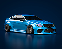 Widebody kit design MB W204 AMG
