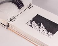 MOUNTAINS - Artist book (bookbinding & printmaking)