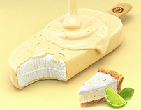 3D-icecream - lemon pie Advertising Imagery