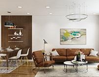 Thiết kế nội thất chung cư GoldMark nhà Anh Đại