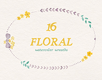 Floralina Watercolor wreaths