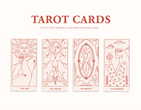 Tarot Cards - business cards backside design