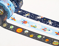 Outer Space Tapes| 太空系列紙膠帶| Masking Tape Design