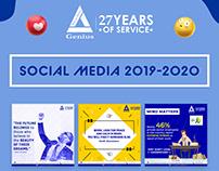 Social Media | 2019-20 - Genius Consultants Ltd