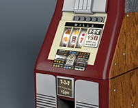 3D Model - Vintage Slot Machine