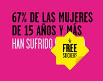 Ni Una (Muerte) Más posters initiative (Free stickers)