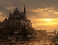 Mont St Michel - Matte Painting