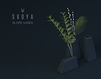 SLOPE VASES by SVOYA studio