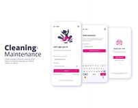A cleaning & Maintenance App UI Design