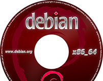 Printable DVD cover for the Debian operating system