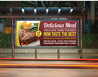 Restaurant Billboard Template Vol.4