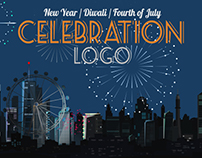 Celebration Logo - Happy New Year / Diwali / Fourth of