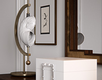 3d model of dresser and mirror