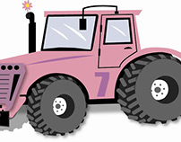 Tractors in Illustrator