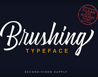 Brushing Typeface