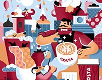 COSTA COFFEE x GLS x Karol Banach mural