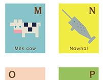 Animal alphabet card set