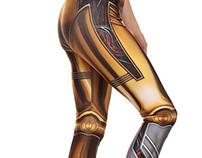 C3PO Inspired Leggings & Croptop