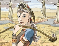 Noble Woman Posing for Portrait on Archery Range