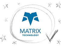 Matrix. Logotypes, brochure, flyer and packaging.