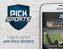 logo e Layout APP - PICK sports