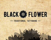 black flower - Marca e identidade visual